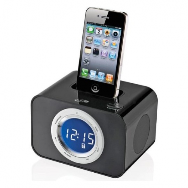 Ilive Alarm Clock Radio With Ipod Iphone Dock Electronics Clock Radios ...