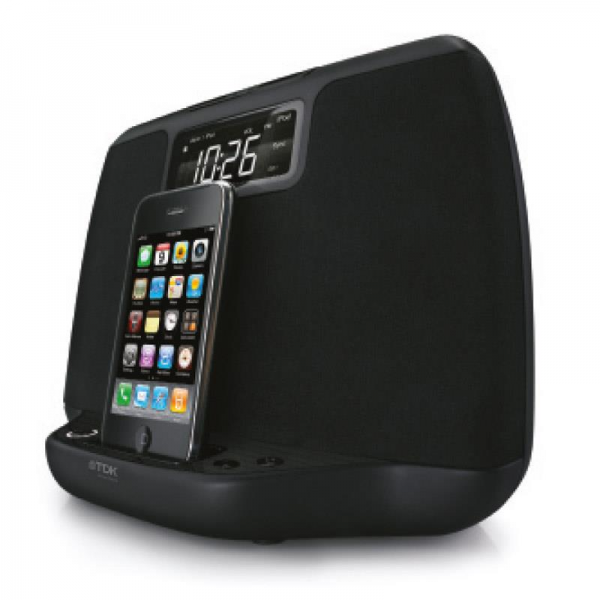 TDK TiCR100p iPhone iPod Speaker Dock Alarm Clock Radio AUX: Click to ...