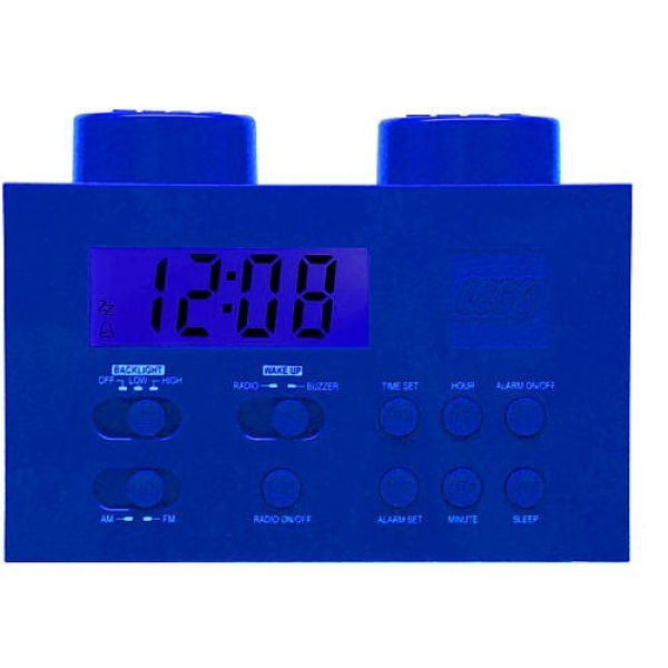Order LEGO Alarm Clock Radio - Blue from Cool Gifts for Kids Store ...