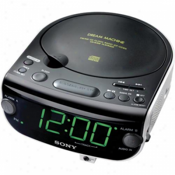 Sony ICF-CD815 CD Clock Radio with 3-Mode Dual Alarm (CD/Radio/Buzzer ...