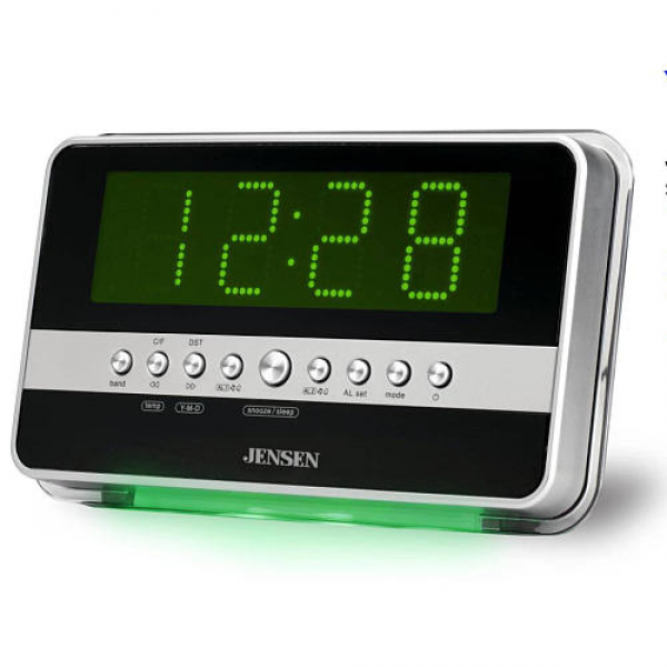 AM/FM Dual Alarm Clock Radio Wave Sensor - Jensen 1023469 - Clocks ...