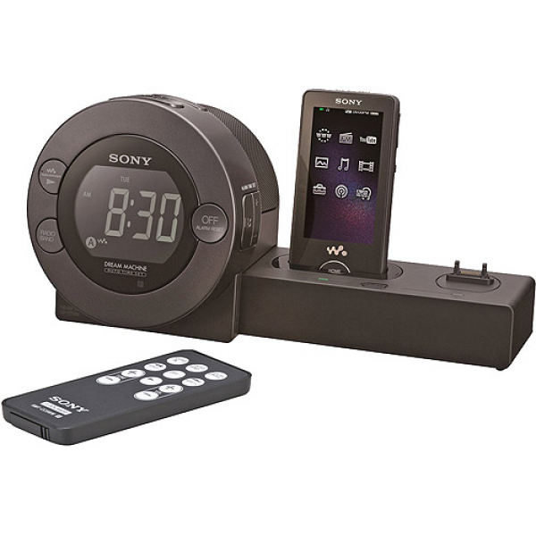 Sony ICFC8WM Alarm Clock Radio with Sony Ericsson Cell Phone/Walkman ...