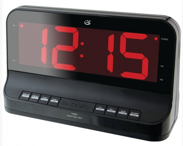 GPX Am FM Dual Alarm Clock Radio with Large 1 8 034 Display New Free ...