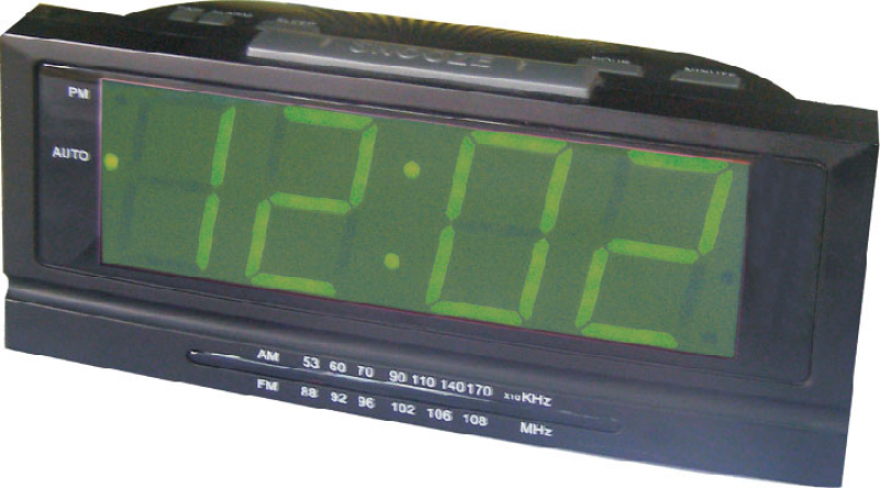 Large LED Display Alarm Clock Radio