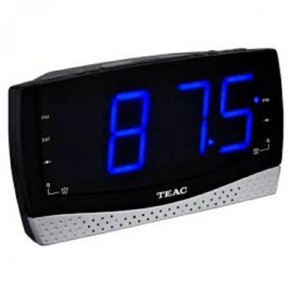 teac alarm clock radio with large display crx185u brand new teac alarm ...