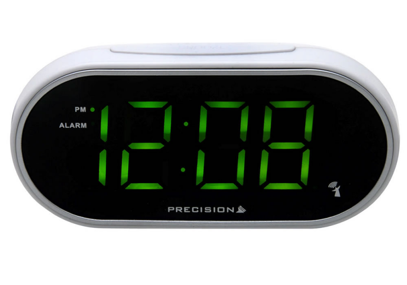 ... Alarm Clocks - Radio Controlled Large Face Green LED Alarm Clock
