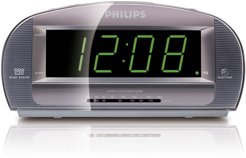 Amazon.com: Philips AJ3540/37 Clock Radio with Large Display (Silver ...