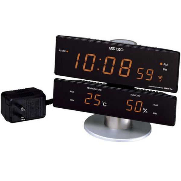 SEIKO Seiko digital temperature humidity display radio alarm clock ...