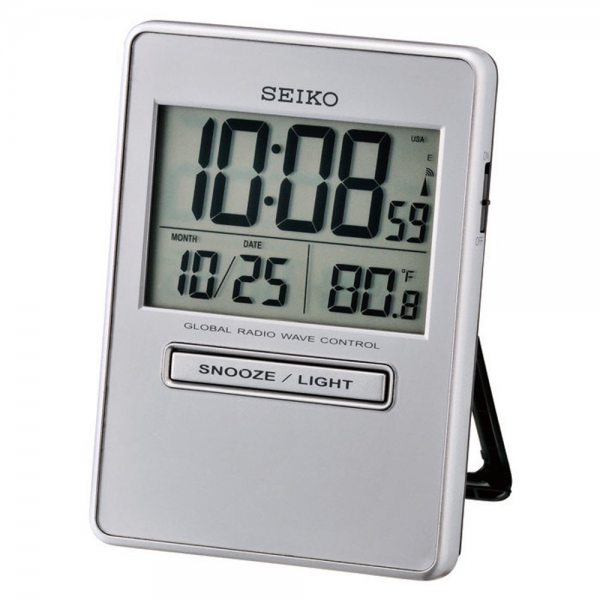Home › Clocks › Seiko › Seiko LCD Radio Controlled Alarm Clock ...