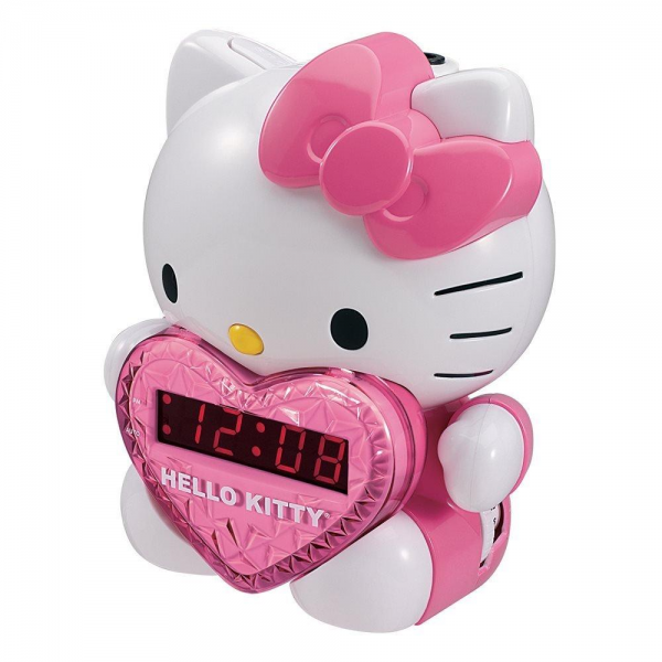 Hello Kitty KT2064 Alarm Clock Radio AM FM Projection Dis - Abibaa.com
