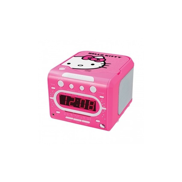 Hello Kitty AM/FM Stereo Alarm Clock Radio with Top Loading CD Player ...