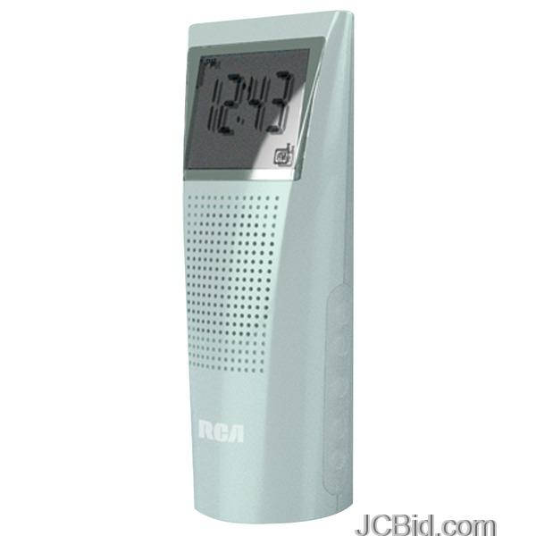 JCBid.com Rca-Brc10bltray-Bathroom-Clock-Radio-Special-Tray-Pack-blue