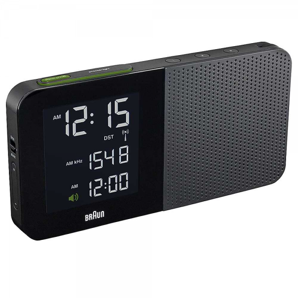Braun Black Digital Radio Alarm Clock | Freemans