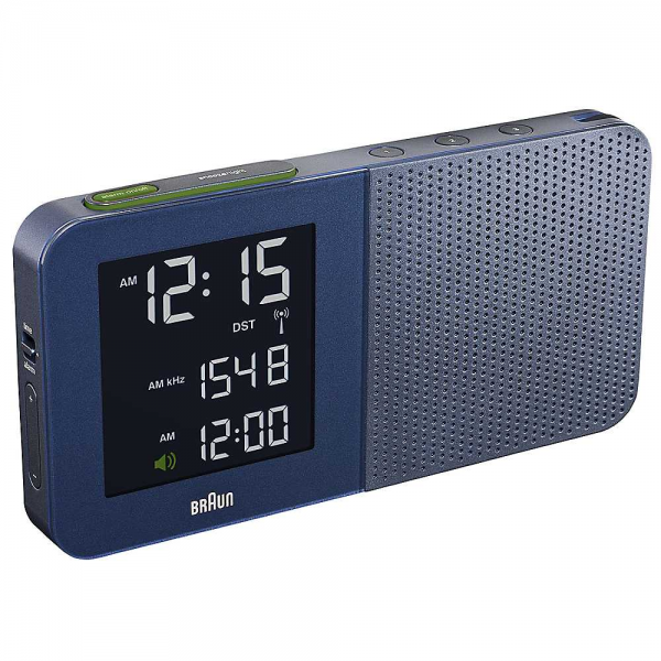 Braun Radio Controlled Digital Navy Alarm Clock | Bedroom | House ...