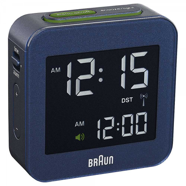 Braun Navy Radio Controlled Digital Alarm Clock | Bedroom | House ...