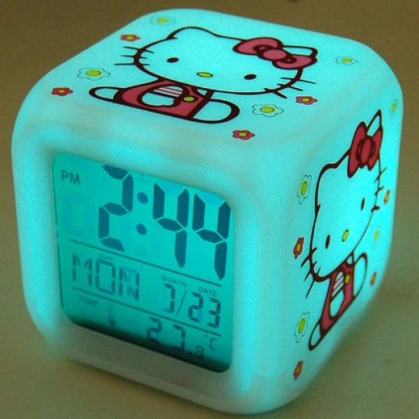 HELLO KITTY KT2053 AM/FM Stereo Alarm Clock Radio with Top Loading CD ...