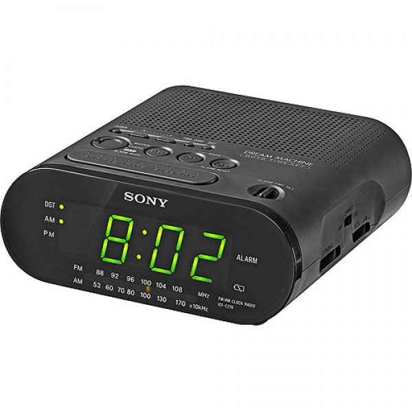 Sony Alarm Clock AM/FM Radio with Green LED Display