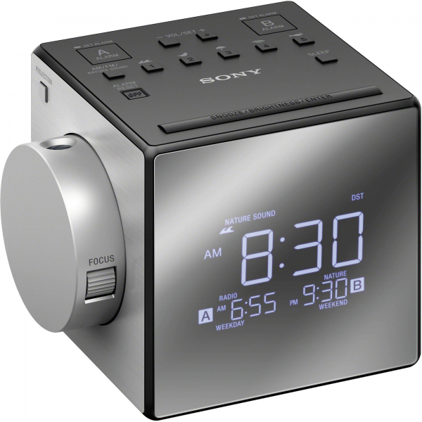 Sony ICF-C1PJ Alarm Clock Radio with Time Projection ICFC1PJ B&H