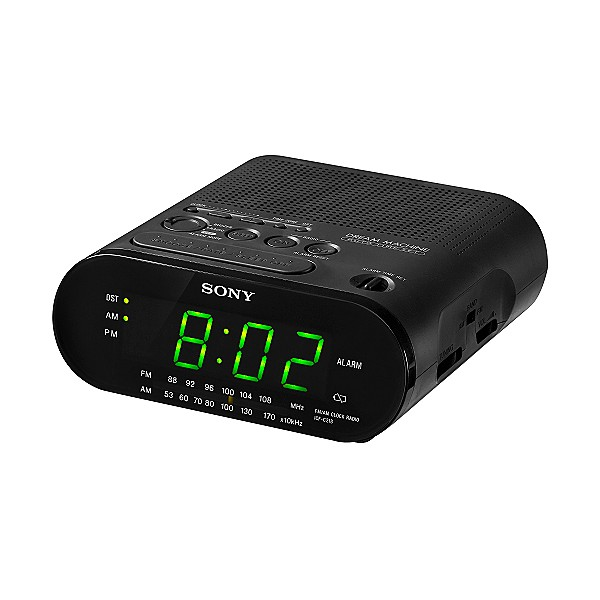 Sony Dream Machine ICF C218 Automatic Time Set Clock Am FM Radio Black ...