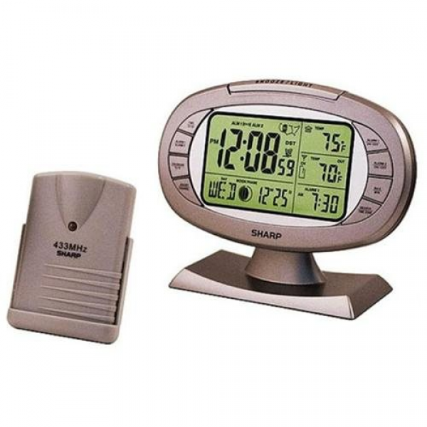 Sharp Radio Controlled Atomic Dual Alarm Clock - Rakuten.com