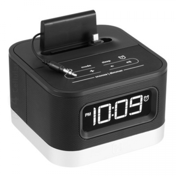 Ihome IC50 FM Stereo Alarm Clock Radio AMP Speaker Dock FOR Android ...