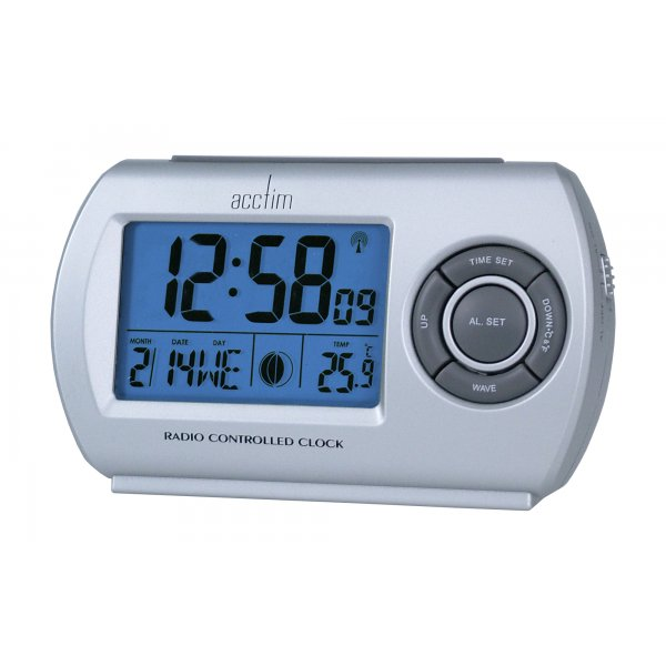 ... about ACCTIM DENIO RADIO CONTROLLED MODERN BLUE BACKLIGHT ALARM CLOCK