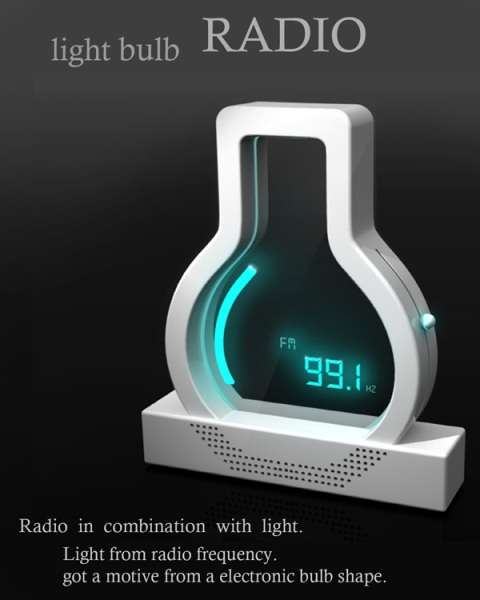 Incandescent Alarm Clocks : Light Bulb Radio