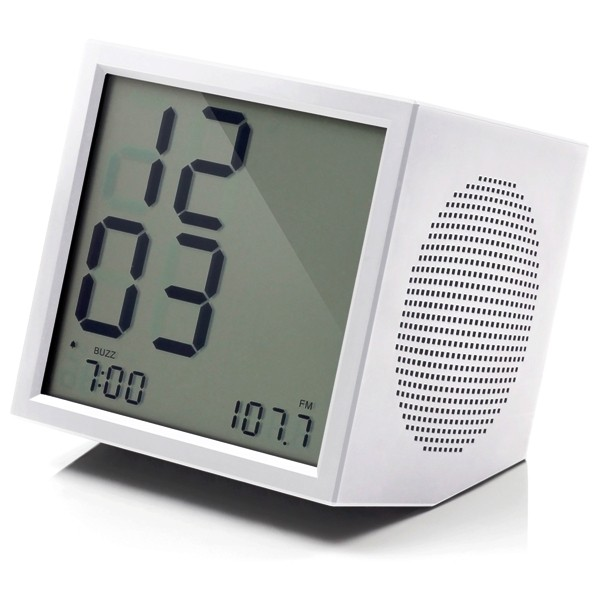 ... › Shop › Alarm Clocks › Lexon Prism Modern White Clock Radio