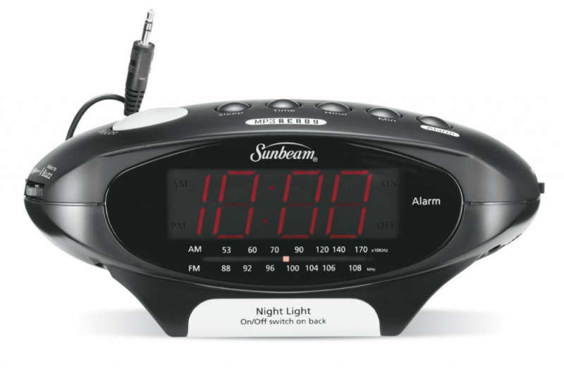 ... Alarm Clock Radios Sunbeam 89020 MP3 Ready AM/FM Alarm Clock Radio