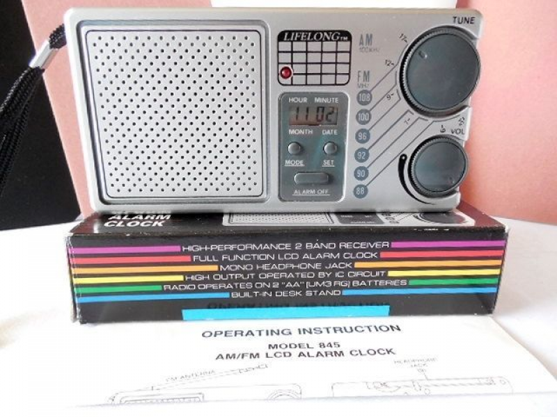 LIFELONG AM/FM Radio with LCD Alarm Clock Model No. 845 #Lifelong Buy ...