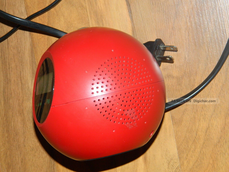 Alarm Clock Am/fm Radio Retro Styled Red Sphere/ball Digital Clocks ...