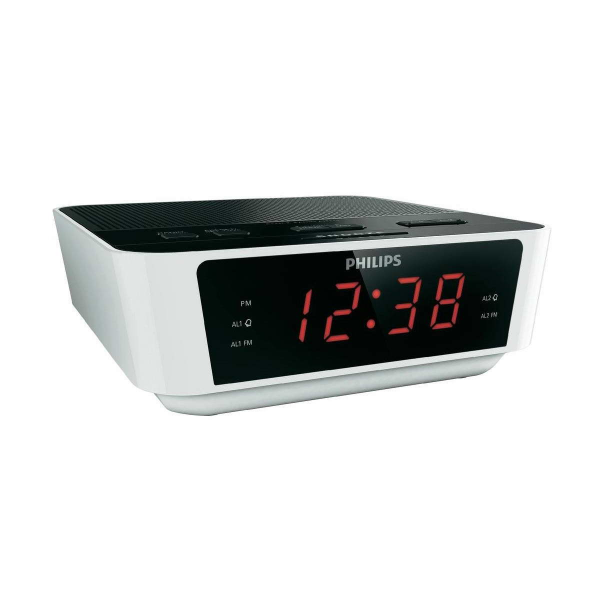 Philips AJ3115 Digital FM Tuning Dual Alarm Clock Radio White And ...