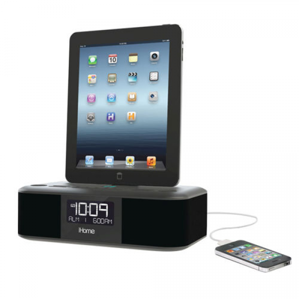 iHome iPad/iPhone Lightning Dual-Charging Alarm Clock Radio