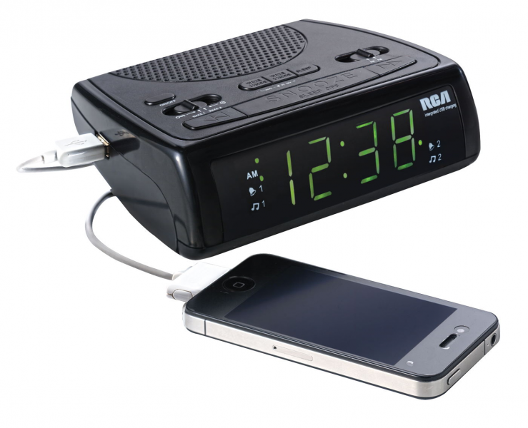 Review: RCA AM/FM Clock Radio With USB Charging Port - Mom's Favorite ...