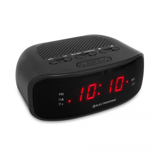 electrohome dual alarm radio clocks radio alarm clocks www top clocks com. Black Bedroom Furniture Sets. Home Design Ideas
