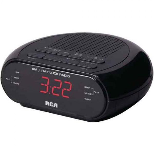Alarm Clock Radio with Red LED and Dual Wake - Walmart.com