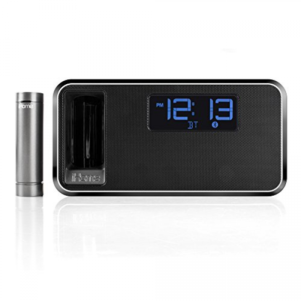 iHome IBT31WC Bluetooth Stereo FM Clock Radio and Speakerphone with ...