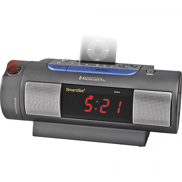 Emerson SmartSet Dual-Alarm Clock Radio with iPod Dock