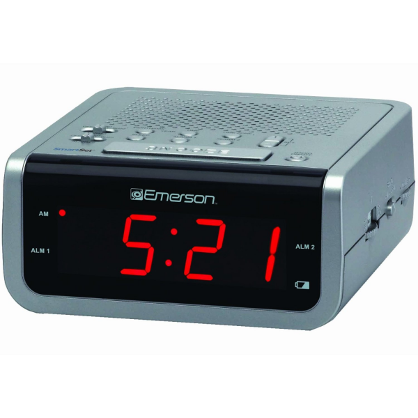 emerson smartset radio alarm clocks radio alarm clocks www top clocks com. Black Bedroom Furniture Sets. Home Design Ideas