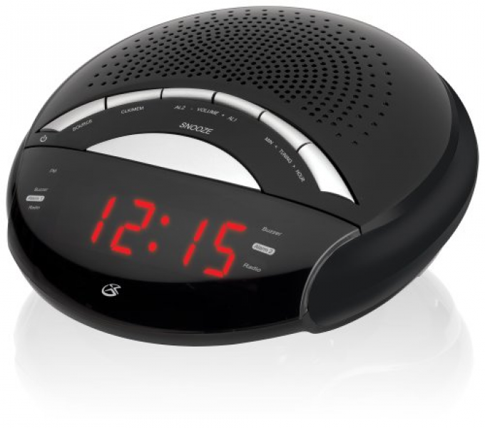 GPX C222B AM/FM Clock Radio with Dual Alarms (Black)-- Brand New ...