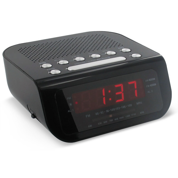 Magnasonic MAG-MM172K Ultra Compact AM/FM Clock Radio with Dual Alarm ...