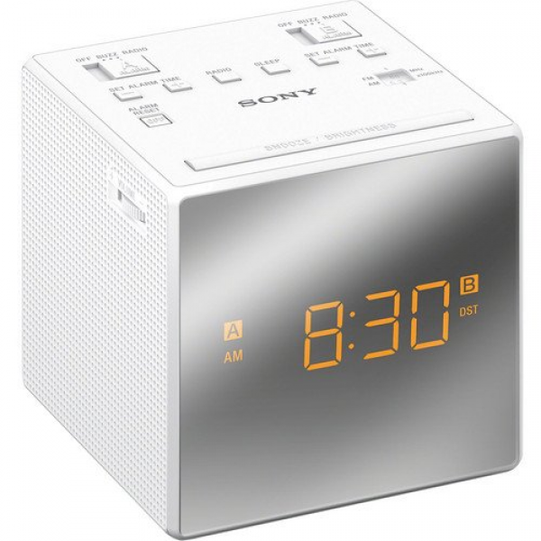Sony compact am/fm dual alarm clock radio with easy to read, backlit ...