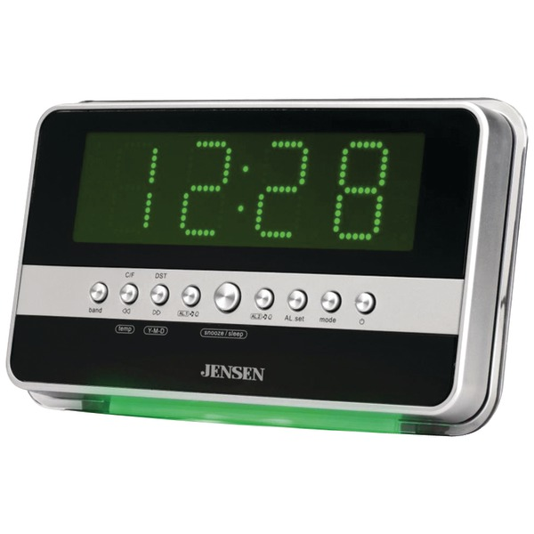 ... Am Fm Dual Alarm Clock Radio With Wavesensor - Jenjcr275-pe - Portable
