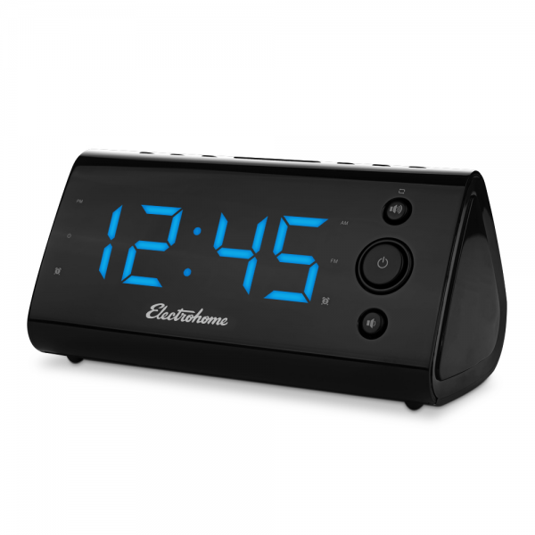 Electrohome Alarm Clock Radio with USB Charging for Smartphones ...