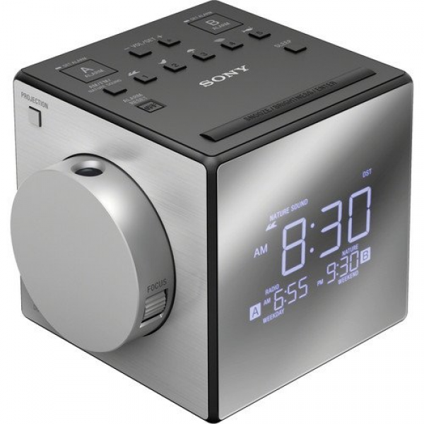 Dual Alarm Clock Radio with Large LED Display, Soothing Nature Sounds ...