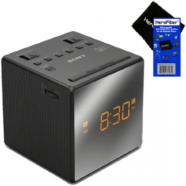 Sony Dual Alarm Clock AM/FM Radio with Extendable Snooze, Large LED ...