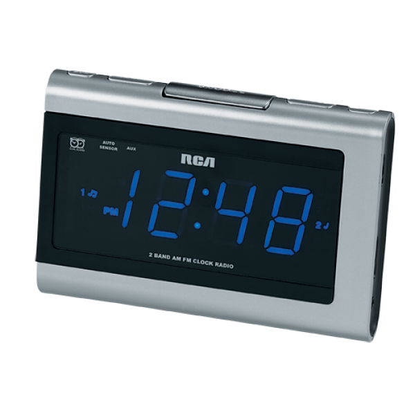 Dual Wake AM/FM clock radio with MP3 audio input