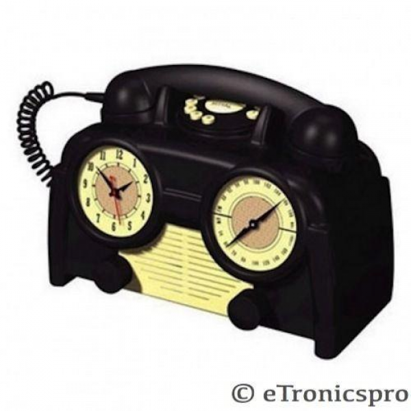 Telephone Alarm Clock Radio | eBay