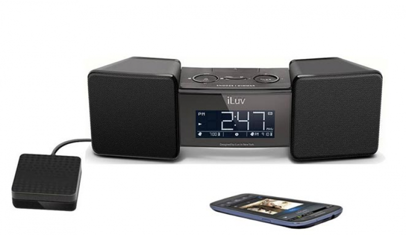iLuv Bluetooth Speaker with Alarm Clock