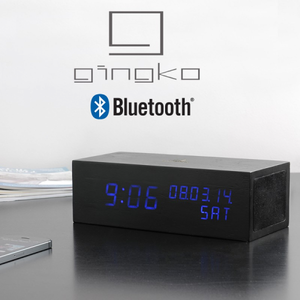 Music / Blue LED Alarm Clock Bluetooth Speaker | Menkind